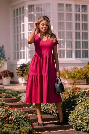 rosa prosa vestido de malha bordo sangria 3