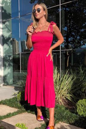 rosa prosa vestido viscose pink 1