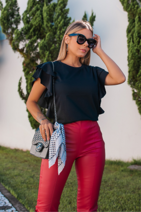 rosa prosa blusa de malha com babados e calca 3