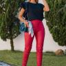 rosa prosa blusa de malha com babados e calca 6