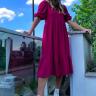 rosa prosa vestido de malha manga bufante 3